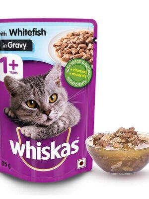 Whiskas Adult  Chicken  Gravy Wet Cat Food – 12 Pouches (12 x 85g)