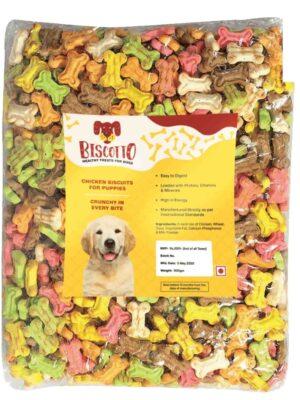 Puppy Biscuits Bone Shaped Non-Veg Dog Treat – 900 gm
