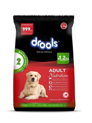 Drools Vegetarian Adult Dry Dog Food – 3kg + 1.2kg Free