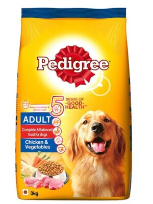 Pedigree Adult Chicken and Vegetable Dry Dog Food – 1.2kg to 20kg