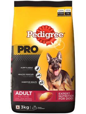 Pedigree PRO EXPERT NUTRITION Active Adult Large Breed Dry Dog Food – 1kg to 20kg