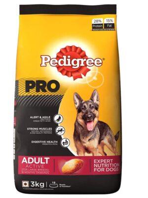 PEDIGREE PRO Expert Nutrition Active Adult Large Breed Dog Dry Dog Food – 1.2kg to 20kg