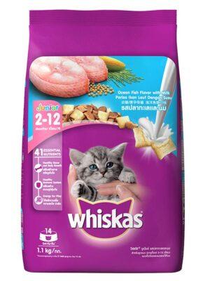 Whiskas Kitten Junior Ocean Fish Dry Cat Food – 1.1kg to 3kg